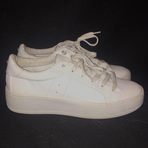 3040e30569f Steve Madden Bertie White Platform Sneakers